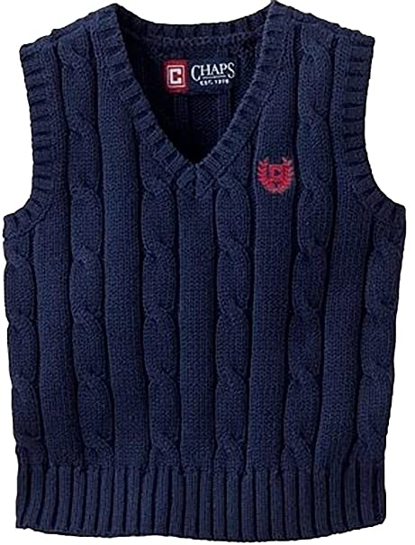 95713067f Image Unavailable. Image not available for. Color: Chaps Boys Cable Knit Sweater  Vest ...