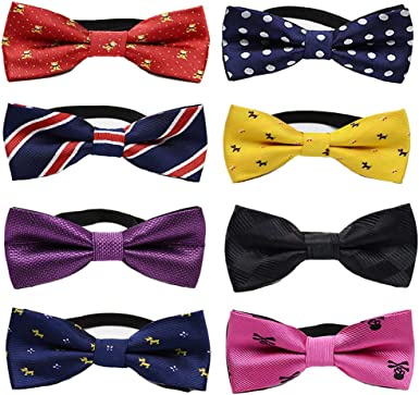 Zakka Republic 6pc Adjustable Pre-Tied Boys Bow Tie Accessory Set BBT-05