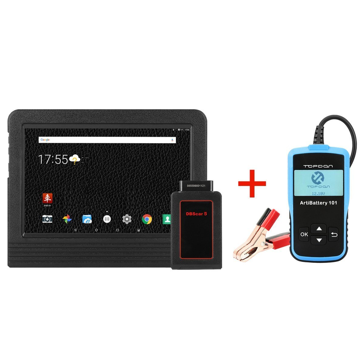 Launch X431 V+ Full System OBD2 ECU Coding Diagnostic Tool Scan Pad with Wifi & Bluetooth Connector 2 Years Online Update