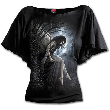 Bright Eyes Girl-Shirt schwarz Spiral EVhl9