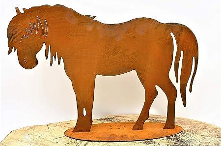 Metall Rost Deko Pferd Blechfiguren Im Trendigem Edelrost Amazon