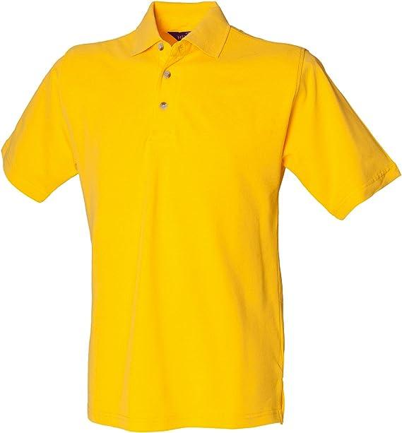 henbury Polo clásico con cuello alto Amarillo - Amarillo: Amazon ...