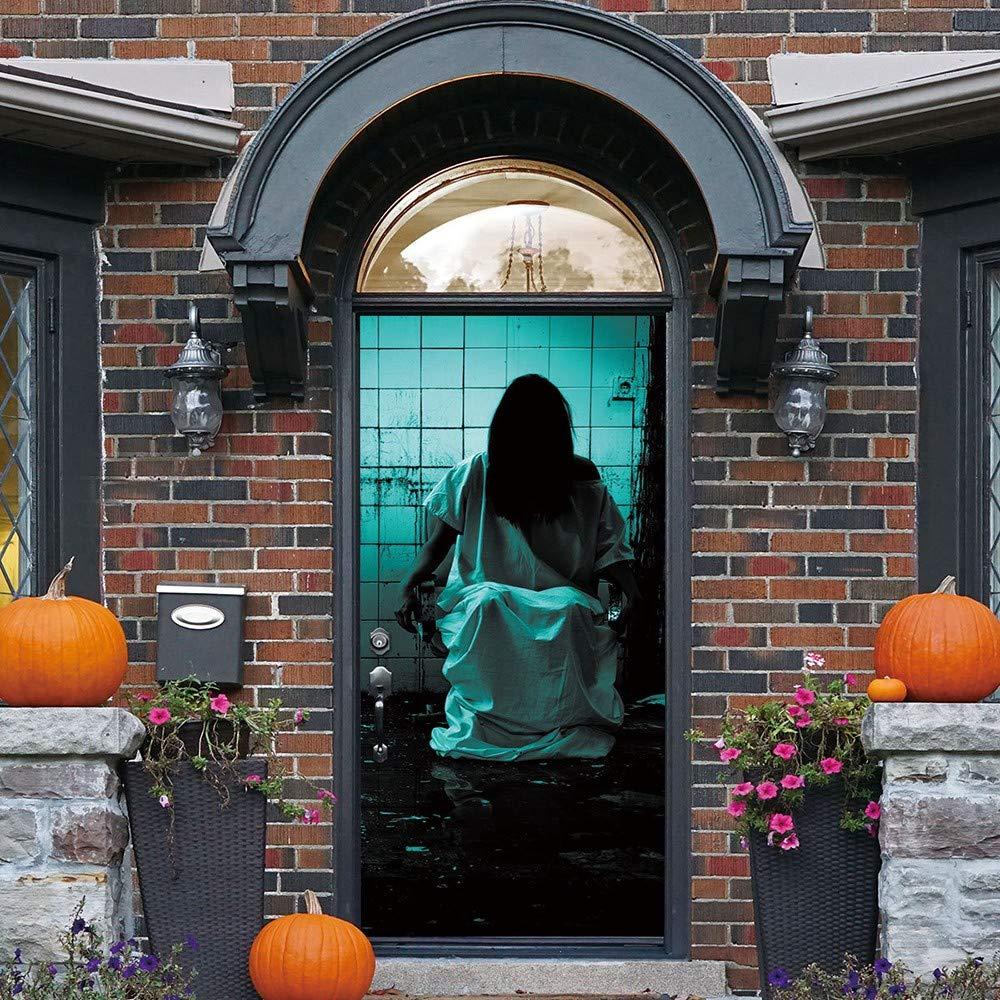 DICPOLIA Decoration Halloween Haunted House Decor Window Door Cover Sticker Zombie Hand 78X30 Inches (Multicolor)
