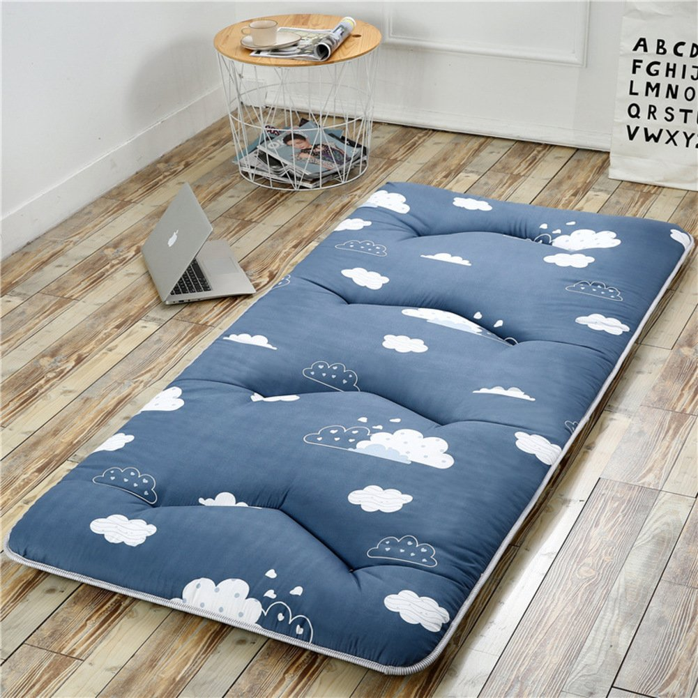 hxxxy Folding Tatami floor mat,Portable sleeping pad Queen-king Traditional japanese futon Washable-C 120x200cm(47x79inch)
