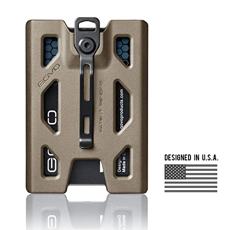 a24377a167e85 Image Unavailable. Image not available for. Color  GOVO Badge Holder Wallet  - Durable ID Card Holder with Metal Clip ...