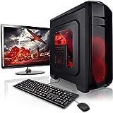 """Megaport PC Gaming Completo AMD A8-9600 4 x 3.40 GHz Schermo LED 22"""" Tastiera/Mouse Windows 10 1TB HDD 8GB DDR4 2400 pc da gaming pc fisso pc desktop pc gaming completo pc completo fisso"""