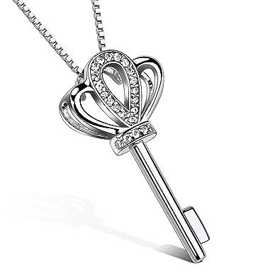 B.Catcher Halskette Damen Kette 925 Sterling Silber Anhänger   quot Schlüssel zu meinem Herzen quot 4981f34d29