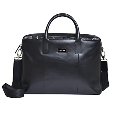 41ee4ccf46d6 Cross Men s Artificial Leather Slim Briefcase   Business   Office   Laptop  Bag - Black  Amazon.co.uk  Clothing