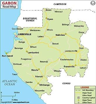 Gabon Highway Map (36