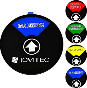 Jovitec Privacy Sign Office Sign, Include in a Meeting Sign Welcome Please Knock Sign Do Not Disturb Sign Out of Office Sign for Home Office Supplies (Color 1, 4.7 Inches)