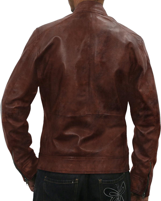 Laverapelle Mens Genuine Lambskin Leather Jacket 1501069 Black, Racer Jacket