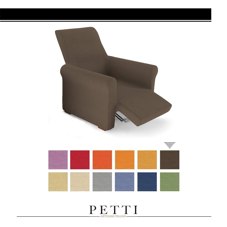 PETTI Artigiani Italiani Màrron, Relax, Funda Sillon Elastica, 100% Made in Italy, 80 a 100 cm