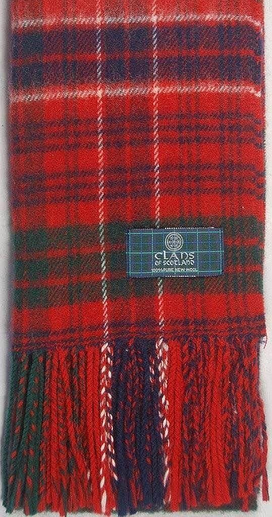 Lambswool Scottish Macrae Red Modern Tartan Clan Scarf Gift