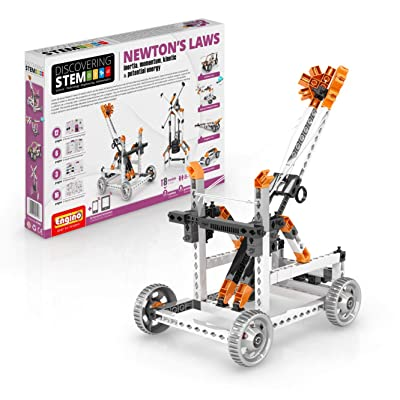 Engino Discovering STEM Newton's Laws Inertia, Momentum, Kinetic & Potential Energy Construction Kit: Toys & Games
