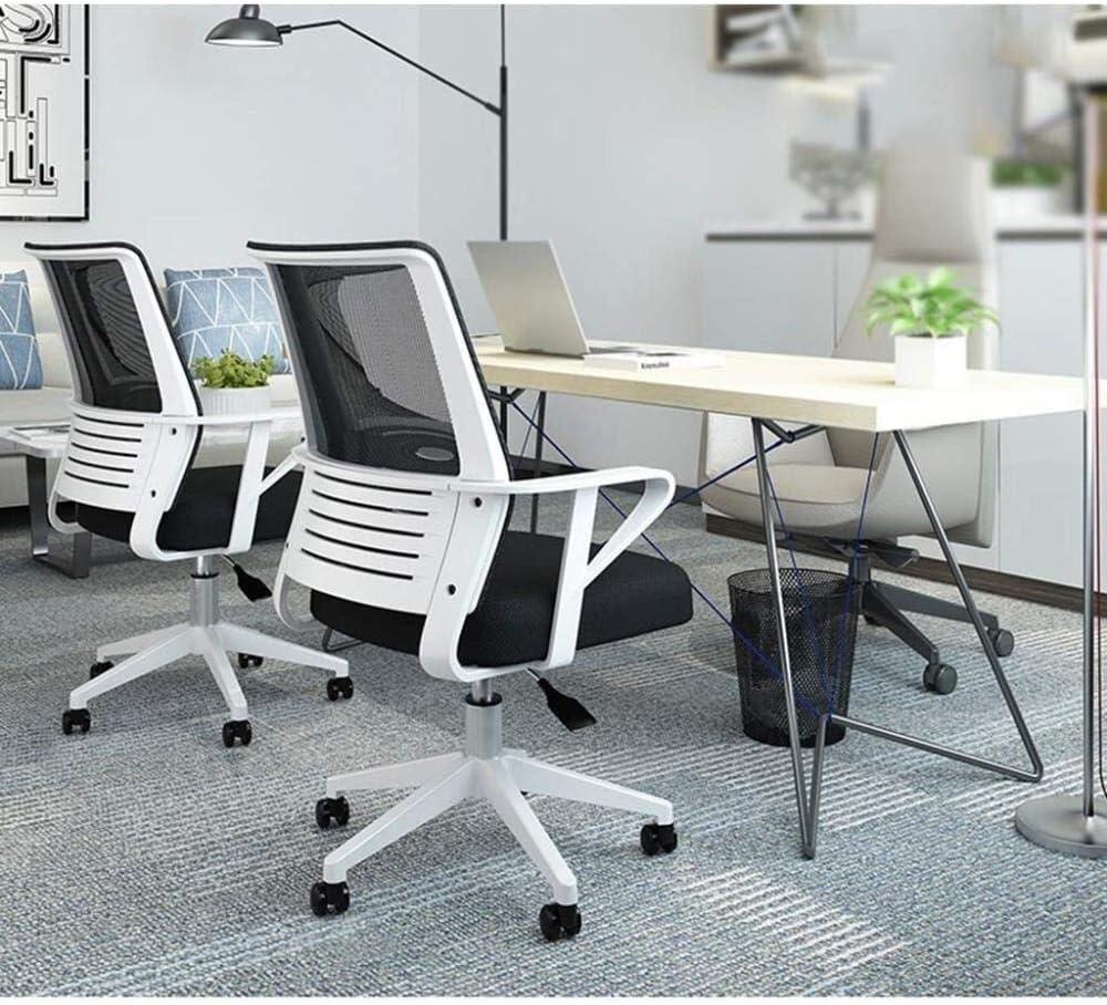 WXF Chaise de Bureau, Chaise Respirante Confortable Conception Ergonomique Chaise de Direction Durable Chaise de Personnel Étudiant (Color : Red) Black