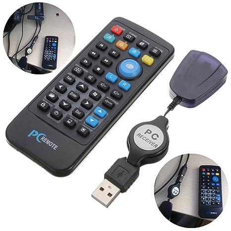 ELEGIANT USB IR Mando a Distancia Controlador Mando a Distancia inalámbrico Control Remoto RPI con USB