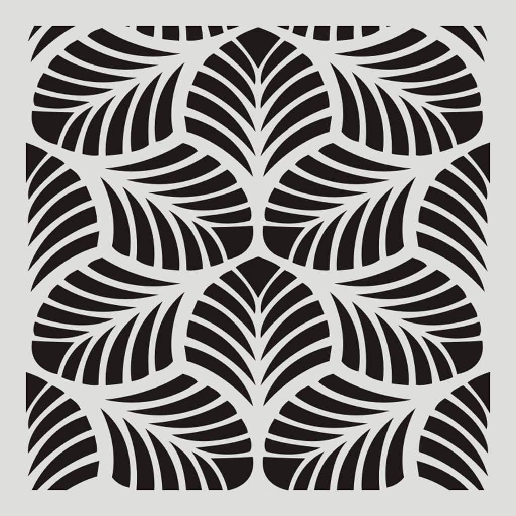 6pcs Mandala Stencil Set Wall Tile DIY Hollow out Making Furniture Painting Card