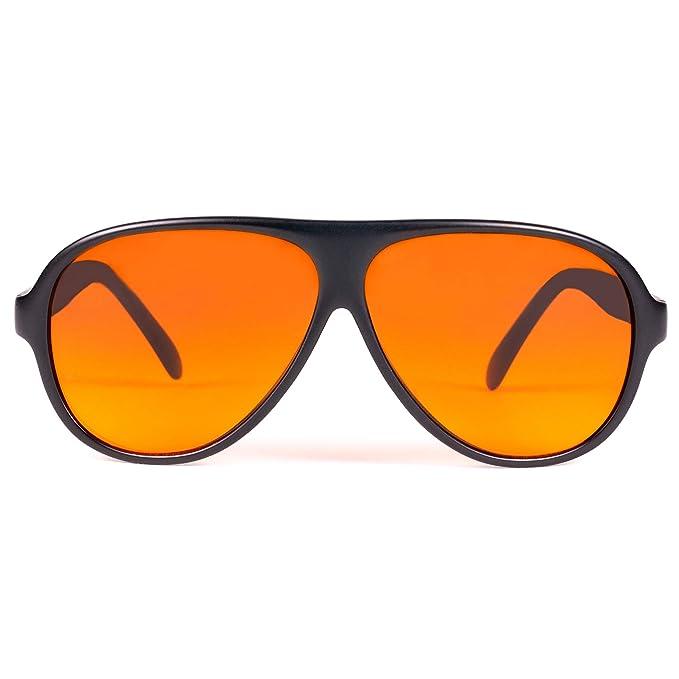 Amazon.com: Oficial Blublocker Nylon Negro anteojos de sol ...