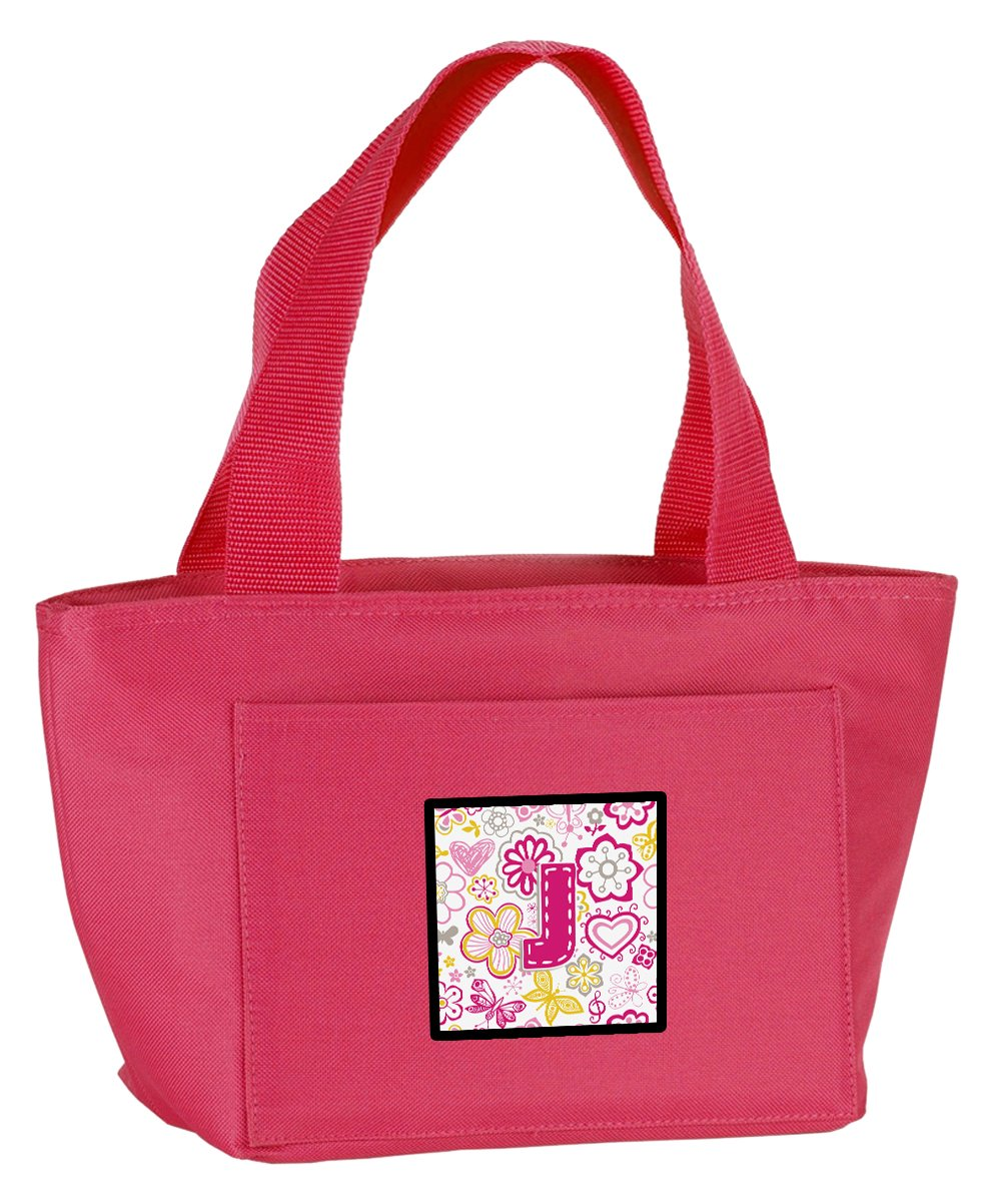 f5f786c5c2a7 Lunch Insulated Pink Butterflies and Flowers J Letter CJ2005-JPK ...