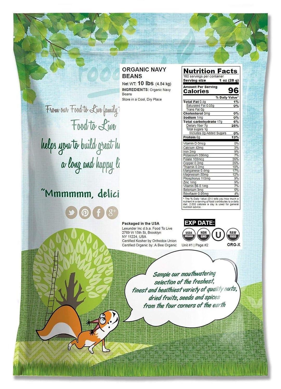 Frijoles blancos Orgánicos, 10 Libras - Eco, Ecológico, Sin OMG ...