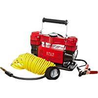 Vitaly VI-DC02 Double Cylinder Heavy Duty Air Compressor - Red & Black