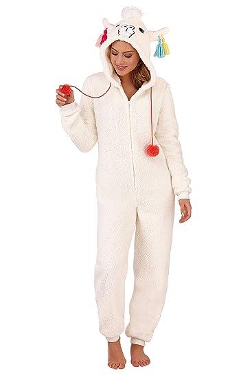 4c32dd7451b46 Loungeable Adults Kids 3D Animal Llama Nightwear  Amazon.co.uk  Clothing