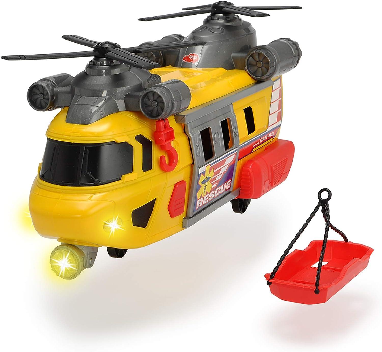 Dickie 3306004 Helicóptero de Rescate Action Series 30cm luz y Sonido