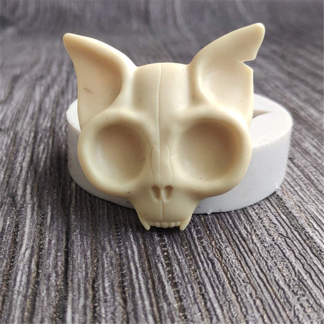 Mini Skull Bat Head Silicone Mold,Christmas Bat skull Kitchen Baking Mold Chocolate Candy Mold Sugar Craft Molds Cake Decorating tools by Runloo