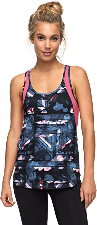 Roxy Beat The Rythm Tank - Camiseta Sin Mangas de Diseño Técnico Mujer