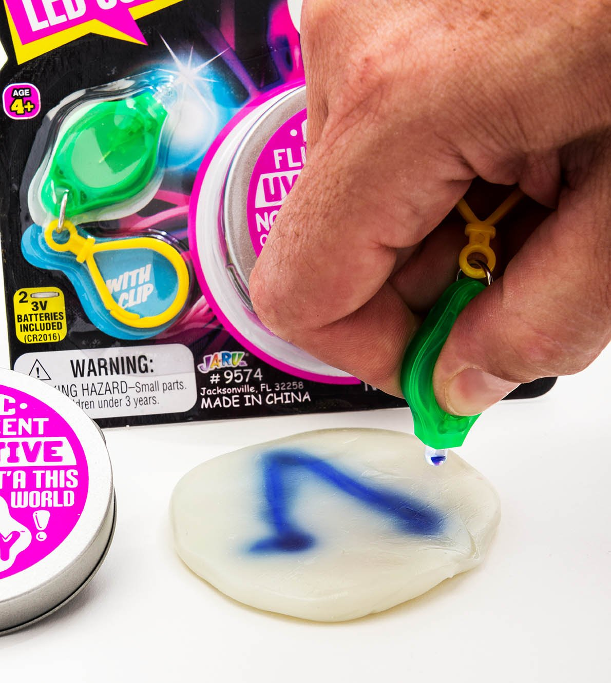 UV Led Lab Putty Scribbler & Bouncing (Pack of 12) by JA-RU | Reactive Sensitive Putty Painting with Light | Item #9574-12 by JaRu (Image #2)