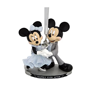 Disney Parks Mickey Minnie Mouse Happily Ever After Wedding Figurine Ornament
