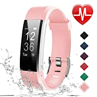 Fitness Tracker HR, Activity Tracker Watch with Heart Rate Monitor, IP67 Waterproof Smart Bracelet with Step Counter, Calorie Counter, Pedometer Watch for Women and Men, Kids
