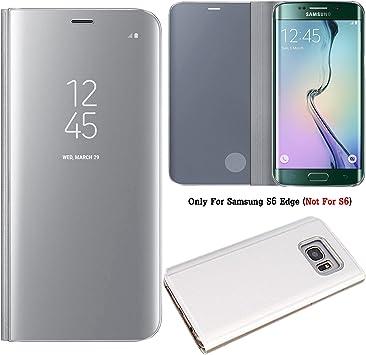 Guran® Mirror Efecto Espejo Funda para Samsung Galaxy S6 Edge (5.1 ...