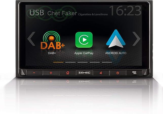 Zenec Z N528 2 Din Autoradio Infotainer Multimediasystem Mit 17 1 Cm 6 75 Touchscreen Dab Bluetooth Usb Mediencenter Mit Apple Carplay Und Google Android Auto Navigation
