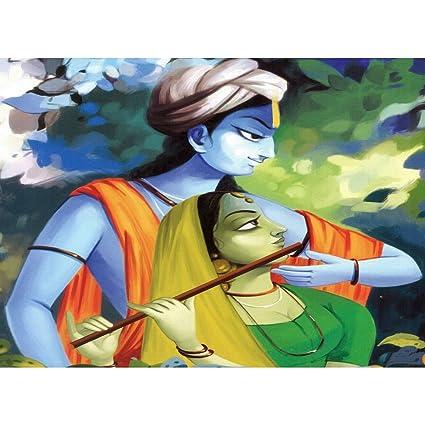 Buy Papatola Non Woven Art Radhe Krishna 3d Wallpaper 8 X 8 Feet