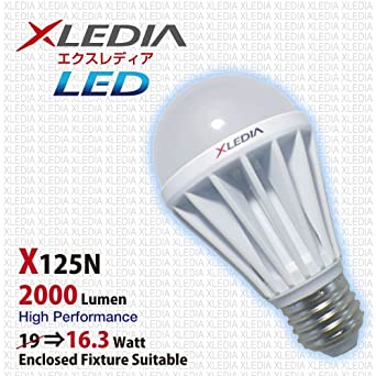 xledia Bombilla LED x125 N A19 125 W equivalente, 2000 lúmenes, blanco frío,