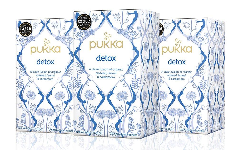 Pukka Herbs Organic Detox Herbal Tea, 20 individually wrapped tea bags, 3 Count