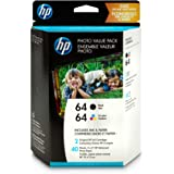 Hewlett Packard Z2H77AN#140 HP 64 Black/Tri-Color Photo Value Pack-40 Sht/4 X 6 in (Z2H77AN) Ink