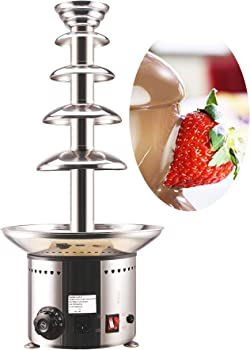 CO-Z 5-Tier Heated Commercial Retro Chocolate Fountain