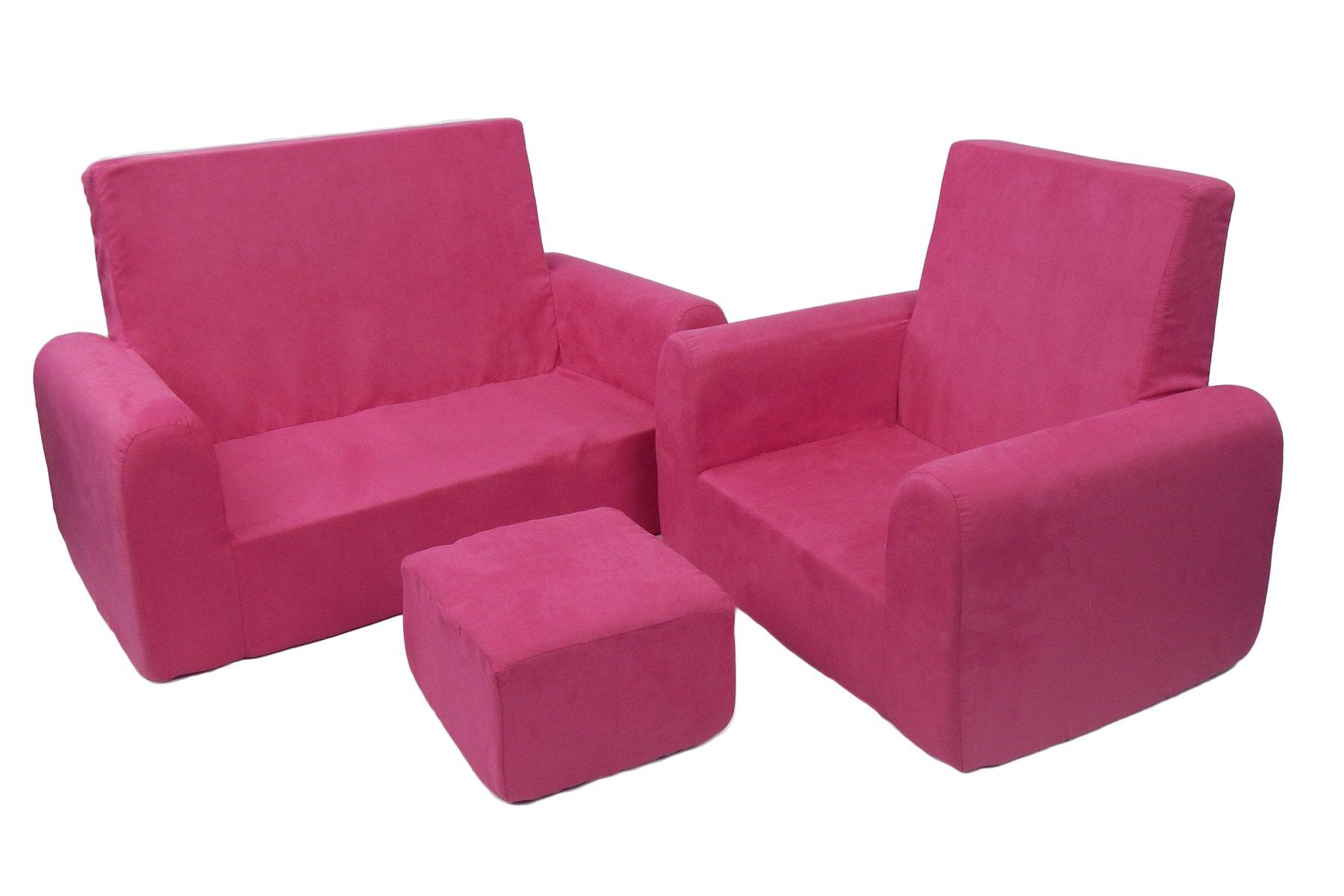 Fun Furnishings 65204 Toddler Sofa, Chair and Ottoman Set