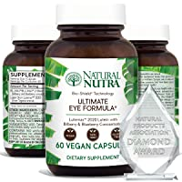 Natural Nutra Ultimate Eye Health Vitamins with Lutemax 2020, 10mg of Lutein, 500mg of Blueberry, Bilberry Extract, Macular Degeneration and Night Vision Supplement, Award Winning Formula, 60 Capsules