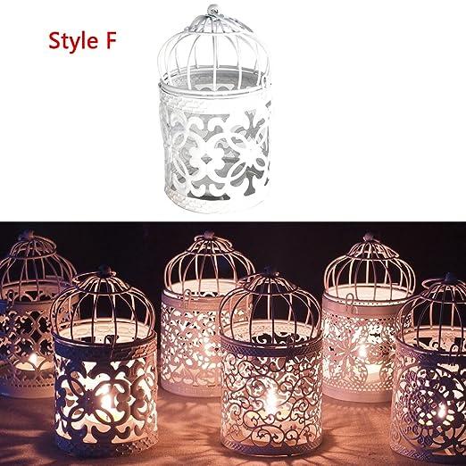 jiamins - Soporte para velas Portavelas candelabro hueca jaula de ...