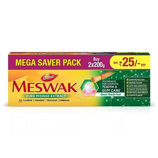 Dabur Meswak Toothpaste - 200g (Pack of 2)