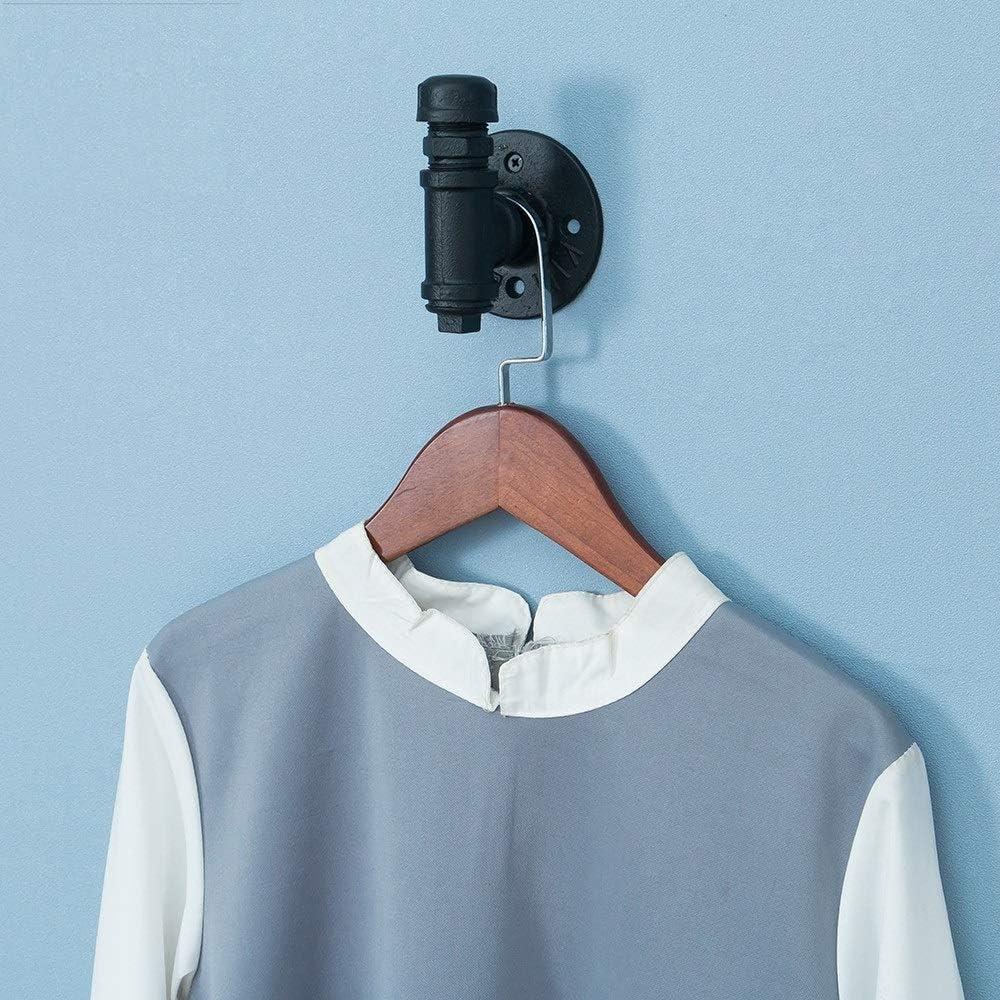MOODSC Vintage-Industriedampfb/ügeleisen Wasser-Rohr-Hahn-Wand Kleiderhaken Hutablage Halter Kleiderb/ügel K/üche Badezimmer Accessorie,1hooks