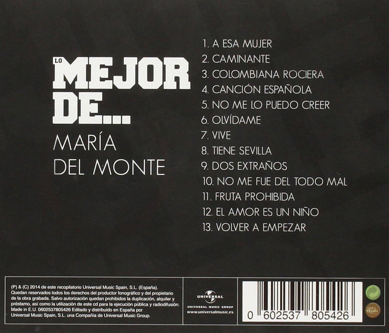 Lo Mejor De María Del Monte: María Del Monte: Amazon.es: Música