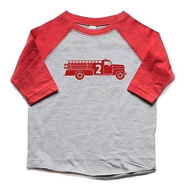 Second Birthday Shirt Fire Truck Toddler Boy Or Girl 2 Bday Tshirt 2nd Trendy Kids