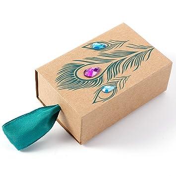 CLE DE TOUS - Set de 25 Cajas para dulces bombones Caja kraft de boda regalo