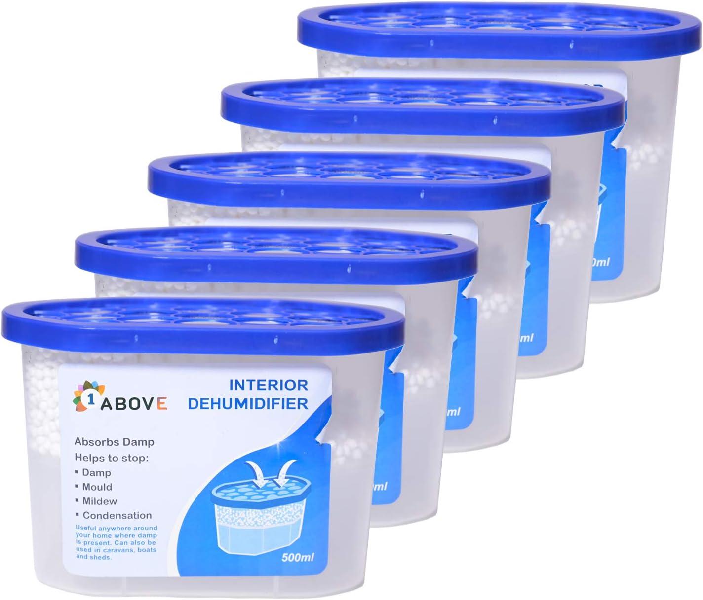 1 Bedroom 210 g Dehumidifiers for Damp Hanging Wardrobe Dehumidifier Basement Bathroom Moisture Absorber Mould Caravan Condensation Remover Moisture in Wardrobe