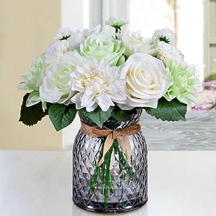 Amazon bringsine bridal wedding bouquet flower arrangement home bringsine bridal wedding bouquet flower arrangement home decorative flowers real touch silk artificial flowers rose junglespirit Images