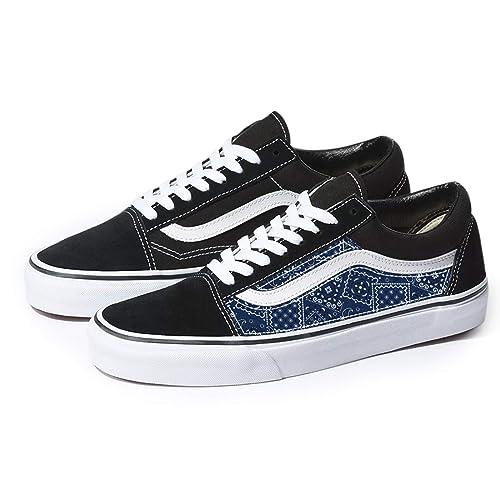 Vans Black Old Skool x Blue Bandana
